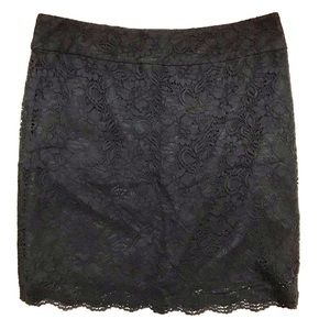 Classic Black Lace Pencil Skirt by Banana Republic